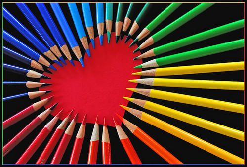 smooth colored pencil heart