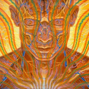 Hubble Alex Grey Image of Mind